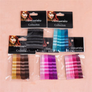 6cm Wave Shaped Colorful Metal Ball Tip Hair Pins (JE1008) pictures & photos
