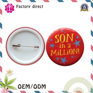 Plastic Bottom Button Badge with Cmyk Printing pictures & photos