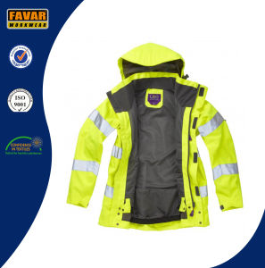 Hi Vis Reflective Safety Breathable Waterproof Jacket in Yellow/Orange pictures & photos