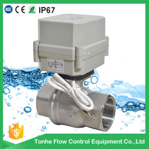 "Dn32 1 1/4"" DC12V/24V Stainless Steel 304 Electric Ball Valve 316 Valve pictures & photos"