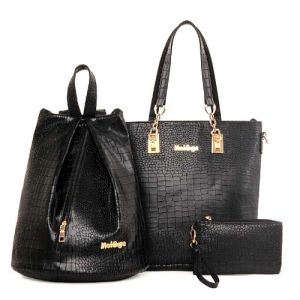 Women Fashion Hand Bag 3PCS Set Bag Leather Designer Handbag (XM0280) pictures & photos