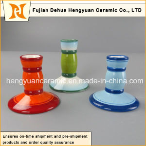 New Design Colorful Ceramic Circular Candle Holder (home decoration) pictures & photos