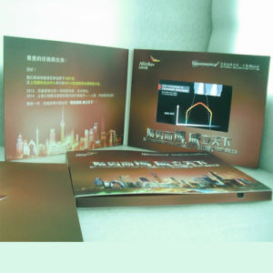 Promotional LCD Screen Video Brochure Greeting Card pictures & photos