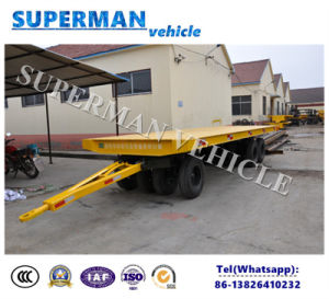 40t Utility Flatbed Cargo Transport Industrial Drawbar Tractor Trailer for Heavy Duty pictures & photos