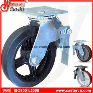 8 Inch Standard Top Plate Scaffold Caster with Rubber Wheel pictures & photos