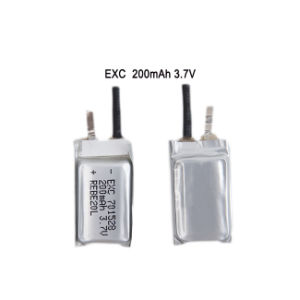 Rechargeable Battery 3.7V 701528 200mAh Lithium Polymer Battery for GPS pictures & photos