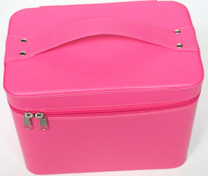 Pink Leather Cosmetic Storage Case pictures & photos