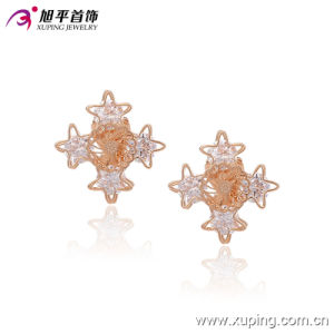 Fashion Nice CZ Crystal Star Imitation Jewelry Clip on Earring -90955 pictures & photos