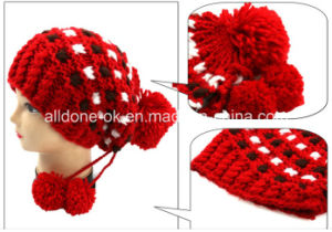 Hand Knitted Pirate Hat, Knit Winter Hat, Warm Hat Bonnet pictures & photos