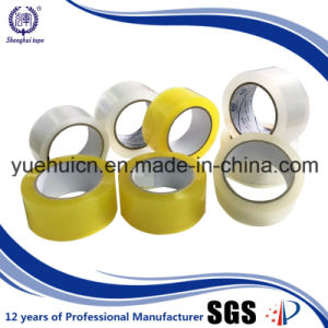 Custom Non-Toxic Yellowish Acrylic BOPP Packing Tape pictures & photos
