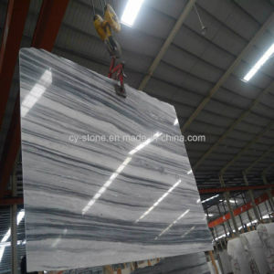 Indoor Decoration Stone Grey Wooden Vein Marble Slabs for Countertop/Tile pictures & photos