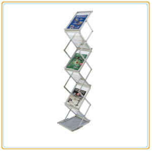 Folding Acrylic Magazine Rack Brochure Holder Display (A4) pictures & photos