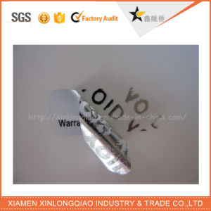Customized Tamper Evident Warranty Void Remover Holograms Square Security Sticker pictures & photos