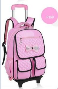 High Quality Girl′s School Bag with a Pull Rod pictures & photos