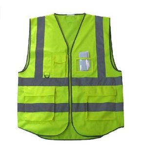5 Pockets High Visibility Safety Vest with Reflective Strips pictures & photos