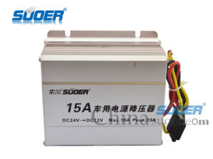 Suoer Car Power Converter DC 24V to 12V Power Supply Converter with Best Price (SE-15A) pictures & photos