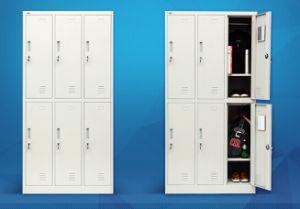 6 Door Metal Storage Hanging Wardrobe for School pictures & photos