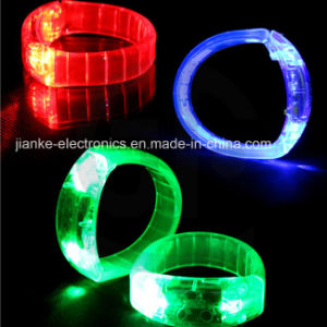 Light up LED Flashing Bracelet with Logo Printed (4011) pictures & photos
