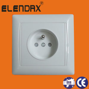 Europe 1 Gang French Type Electric Wall Socket (F6610) pictures & photos