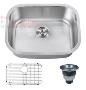 23-1/4 X 17-3/4 Inch Stainless Steel Under Mount Single Bowl Kitchen Sink with Cupc Certification pictures & photos