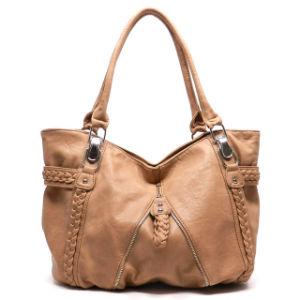 Trend Women Fashion Leather Shoulder Hand Bag in Guangzhou Market