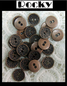 Copper Color Button Shank Buckle for Garment