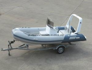 Aqualand 16feet 4.7m Fiberglass Rib Inflatable Boat/Sports Fishing Boat /Motor Boat (RIB470B) pictures & photos