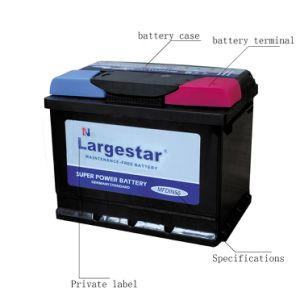 Maintenance Free Battery Storage Lead Acid Battery DIN72 Largestar pictures & photos