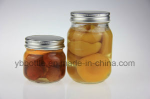16oz/520ml Glass Round Mason Jar with Silver/Gold/White/Black Lid pictures & photos