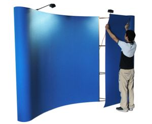 Pop up Stand Display with Magic Tape Fabric Portable Counter pictures & photos