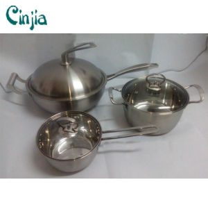 High Quality Stainless Steel 6PCS Cookware Set Kitchenware pictures & photos