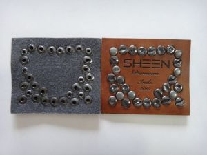 Seaon 1st Factory Price Rivet Center Fold Care Label for Jeans