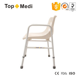 Topmedi Bathroom Safety Equipment Detachable Aluminum Shower Chair with Backrest pictures & photos