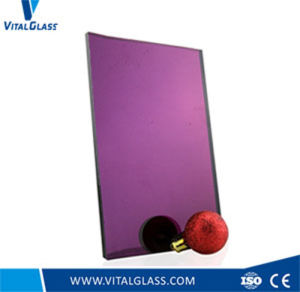 Clear Mirror/Purple Patterned Mirror/ Golden Mirror/Colored Decorative Mirror pictures & photos