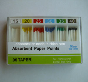 Dental Endodontic 6% Absorbent Paper Points (CE Approved) pictures & photos