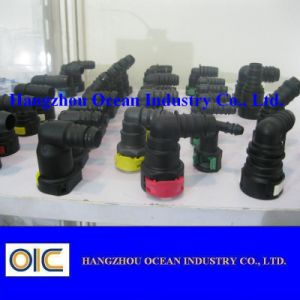 6.3mm 1/4 Fuel Line Quick Connector Quick Coupling Type 90 pictures & photos