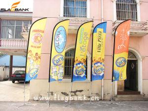 Exhibition Aluminium Customized Flying Flag/Beach Flag pictures & photos