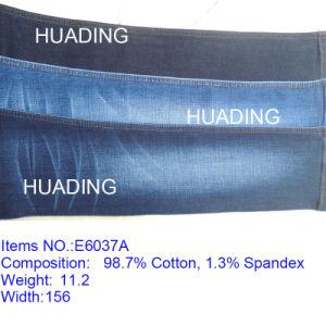 Factory Wholesale Cheap Jeans Blue Denim Fabric (E6037A) pictures & photos