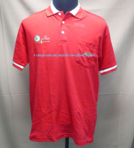 China high quality red polo shirt with pocket and for High quality embroidered polo shirts
