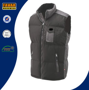 Cold Weather Waterproof Padded Black Bodywarmer pictures & photos