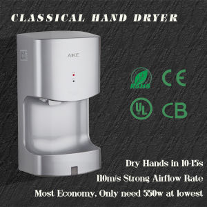 New EMC Certificate Most Widely Use Eco ABS Body Xlerator Automatic Infrared Sensor Single High Speed Toilet Jet Hand Dryer (AK2630T) pictures & photos