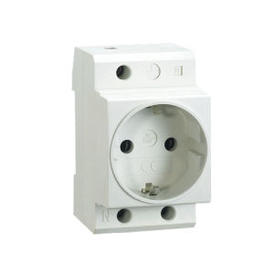 Schuko Type DIN Socket 16A Electrical Modular Contactor Ce Approval pictures & photos