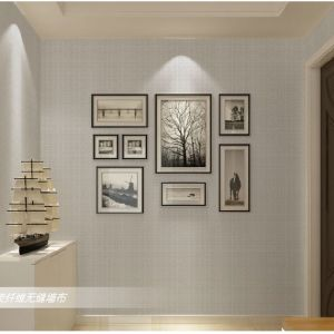 Seamless Chinese Style Square Embossing Wallpaper Fabric Livingroom Bedroom Study pictures & photos