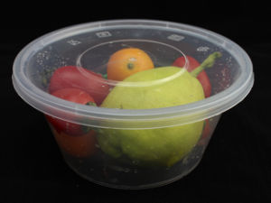 650ml PP Round Microwaveable Food Containers with Lid pictures & photos