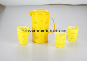Plastic Water Jar with 3 Cups pictures & photos