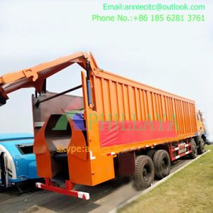 3 Axles 50 Ton Side Tipper Trailer with Hydraulic Cylinder pictures & photos