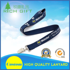 Supply Custom Breakaway Fashion Leather ID Card Lanyard pictures & photos
