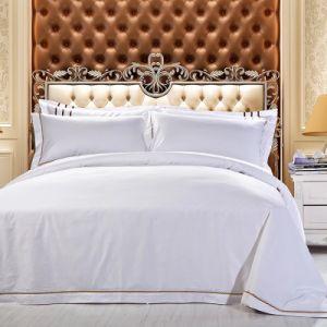 Wholesale Cheap 100% Cotton Embroidered Bed Linen Cotton Flat Sheet (JRD193)