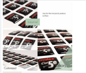 Epoxy Sticker Customized Printing Epoxy Label, Label Printing Eco-Friendly Crystal Clear Ellipse Epoxy pictures & photos