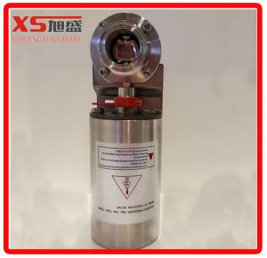 Stainless Steel Food Grade Dn50 Pneumatic Welding Butterfly Valve with Sensor pictures & photos
